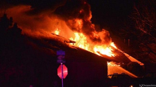 Christmas Eve Chimney Fire Destroys 2 Owasso Homes, Displaces 18