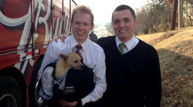Mormon Missionaries Come To Rescue Of Scared Tulsa Pup