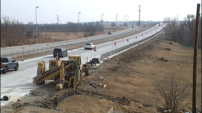 One Lane Of I-244 Near 129th East Avenue Now Open