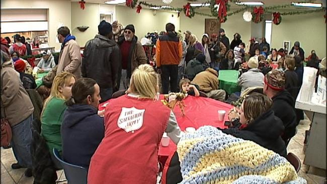 Salvation Army Serves Free Christmas Eve Meals To Hungry Tulsans