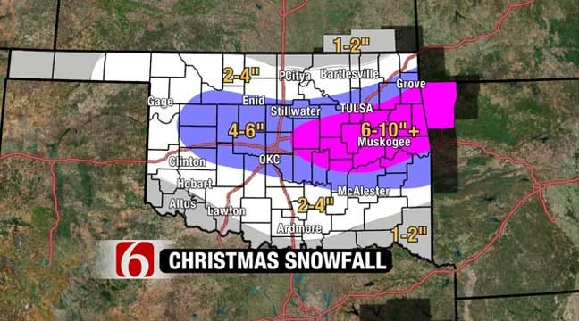 Travelers Take Note Of Christmas Day Oklahoma Snow Storm