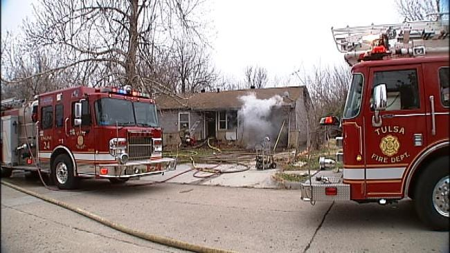 Fire Destroys Vacant House In North Tulsa