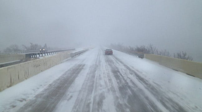 Slick, Snowy Roads In Southeast Oklahoma Make Travel Hazardous