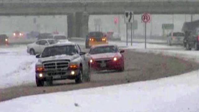 Snowstorm Smacks Central And Western Oklahoma