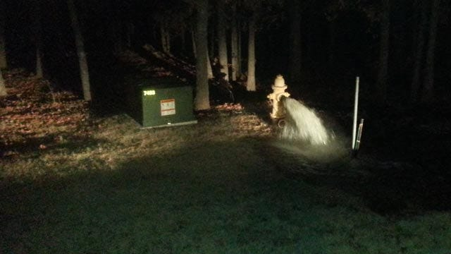 Vandals Open West Tulsa Fire Hydrants, Icing Streets