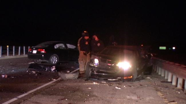 OHP Looks For Drivers Of Crashed Cars Left On Tulsa Highway