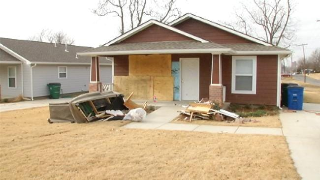 Tulsa Family Starts To Rebuild After SUV Crashed Into Home On Christmas Day