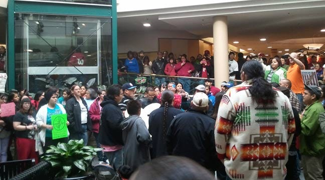 Flash Mob Meets At Tulsa Mall In Support Of Tribal Rights