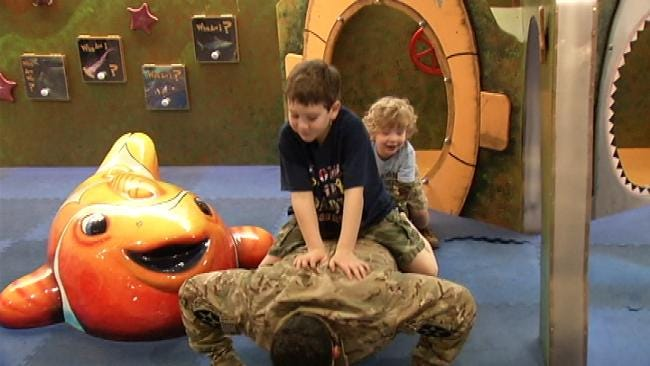 Oklahoma Soldier Returns Home To Wife And Two Young Sons After 11 Months
