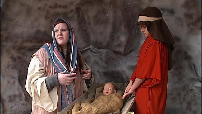 Owasso Kids Stage Elaborate Drive-Thru Nativity Scene