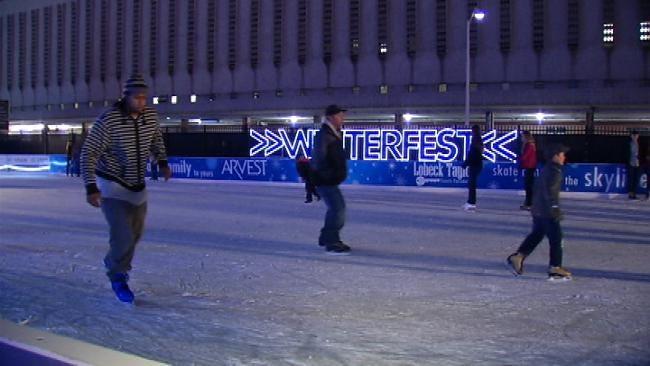 Tulsa's Winterfest Outdoor Ice Rink Re-Opens