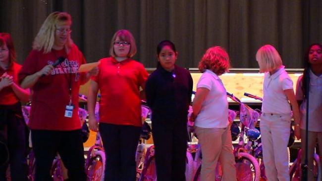 Academy Sports and Outdoors Donates Bikes To Tulsa Kids