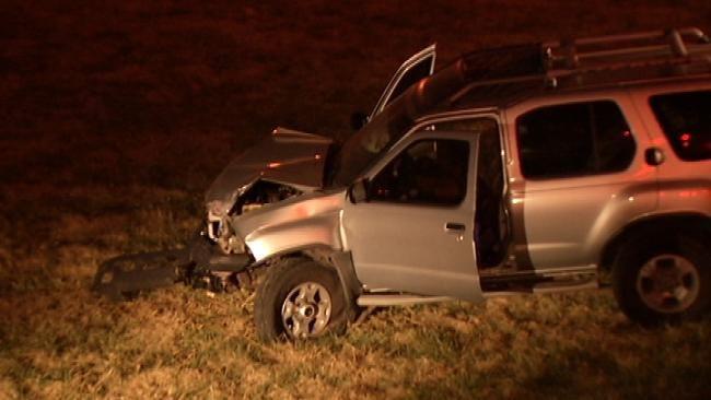 Driver Arrested After Crashing On Tulsa Highway Interchange
