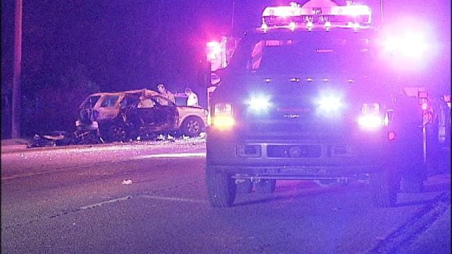 Fiery Motorcycle-SUV Collision Kills Two In Turley