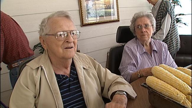 Tulsa Seniors Enjoy Afternoon Shucking Corn