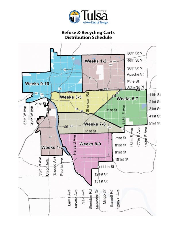 City Of Tulsa Releases Schedule For Trash Cart Distribution
