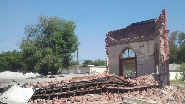 Historic Building Collapses In Chouteau
