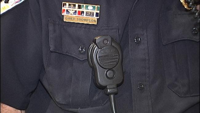 Some Oklahoma Police Wear Lapel Cameras For Their Own Protection