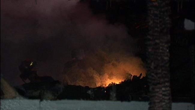 Tulsa Home Goes Up In Flames Overnight
