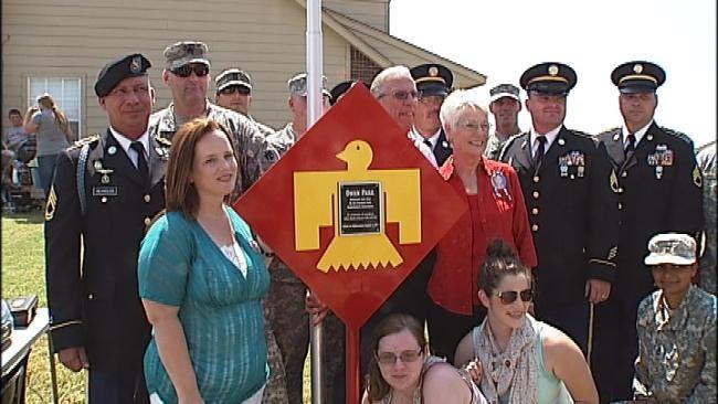 Sapulpa Neighborhood Honors Fallen Soldier