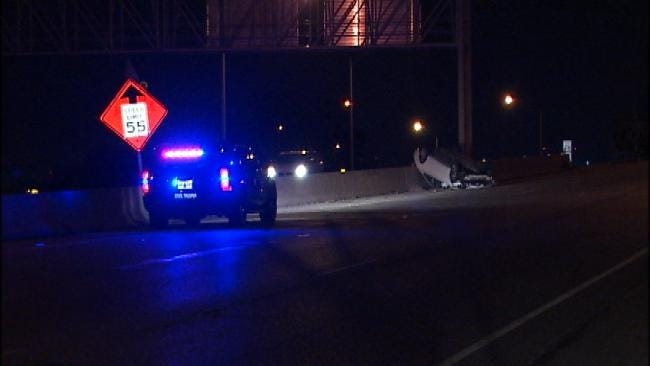 Driver Injured In Rollover Tulsa Wreck