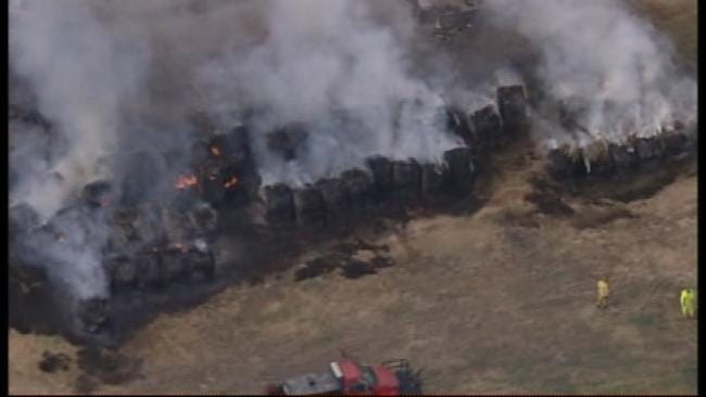 Firefighter Treated For Heat Exhaustion After Oologah Grass Fire