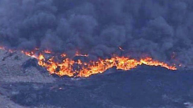 Tire Fire At North Tulsa Landfill Continues To Burn