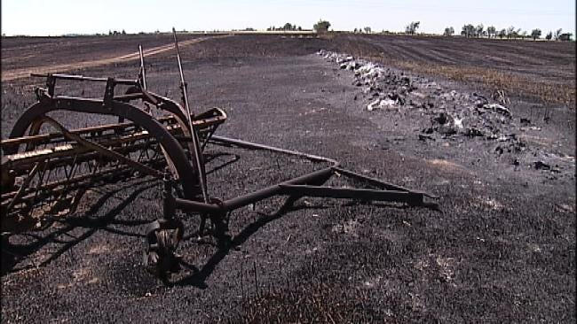 Rogers County Rancher Loses Thousands Worth Of Hay In Grass Fire