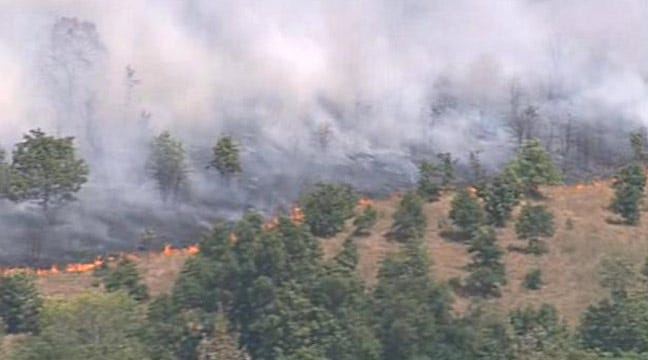 Creek County Grass Fire Continues, Second Wreck Reported