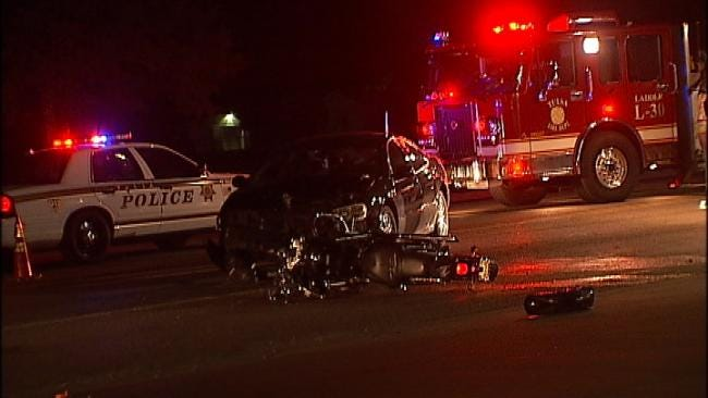 Motorcyclist Injured In East Tulsa Crash