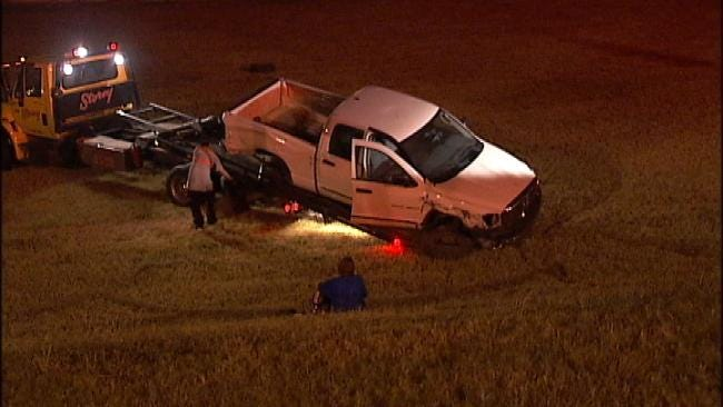 Truck Wrecks On U.S. 169 After Driver Throws Punches At Passenger