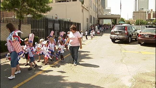 Tulsa Kids Celebrate Independence Day With Downtown Parade