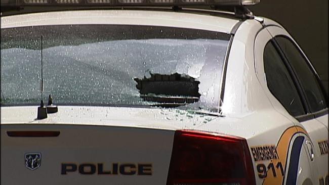 Vandal Blasts Bixby Police Car With Shotgun
