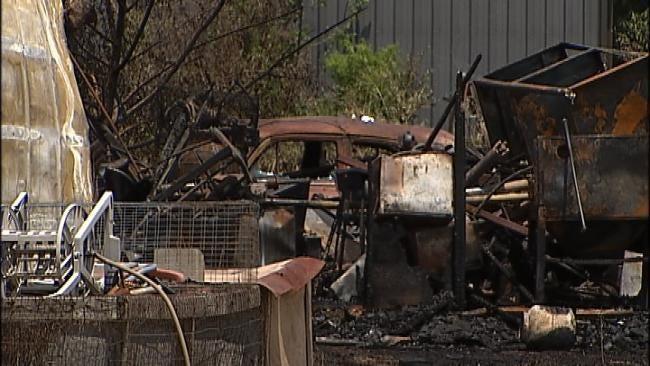 Fire Destroys Owasso Garage, Several Classic Cars