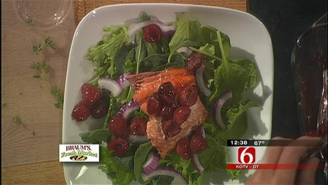 Salmon With Caramelized Cherries