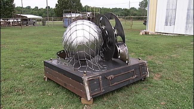 Owasso Man Creates Sculpture For OKC Thunder