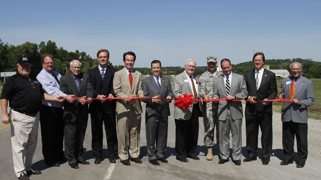 Ribbon Cut On New Highway Segment To Rogers/Wagoner County Port