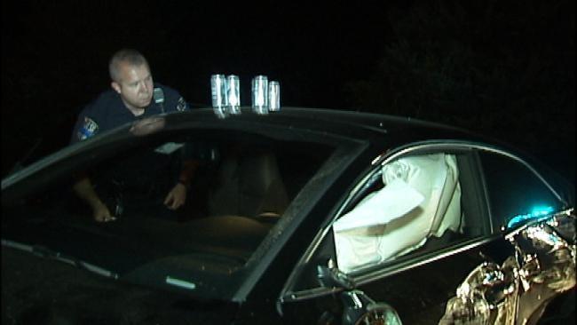 Teenage Driver Arrested After One-Car Tulsa Wreck