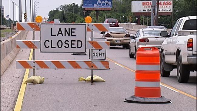 Portion Of Broken Arrow Expressway Narrowed To One Lane
