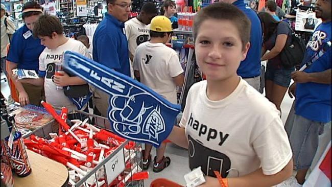 Tulsa Academy Sports Donates 'Thunderwear' To YMCA Day Camp Kids