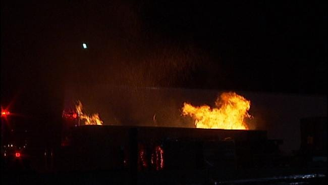Cause Of Tulsa Trash Dumpster Fire Under Investigation