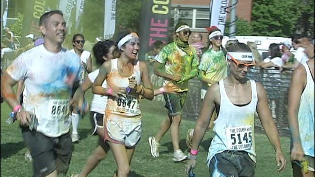 Tulsa 5K Run Explodes With Color