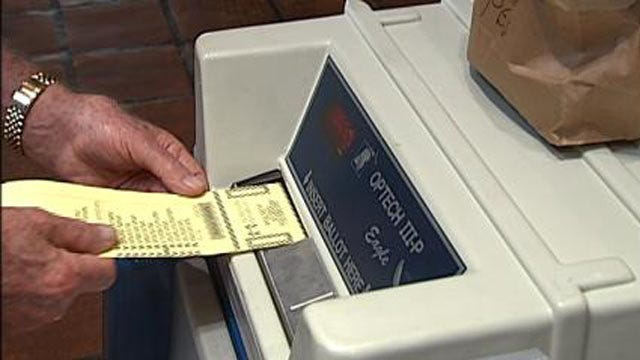 Early Voting Monday For Tuesday's Oklahoma Primary Election