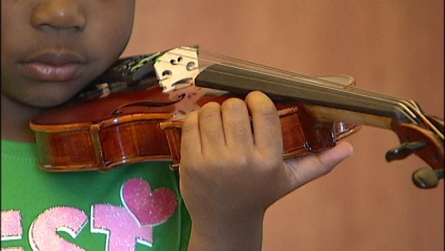 Tulsa 3-Year-Olds Learn To Play Tiny Violins