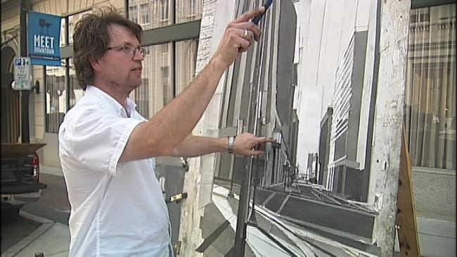 Teacher, Street Artist Builds Images Of Tulsa