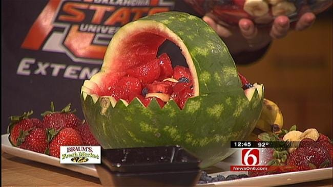 Red, White and Blue Watermelon Basket