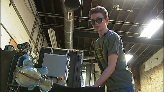 'Hot' Fundraiser Helps Underserved Kids Learn Glassblowing