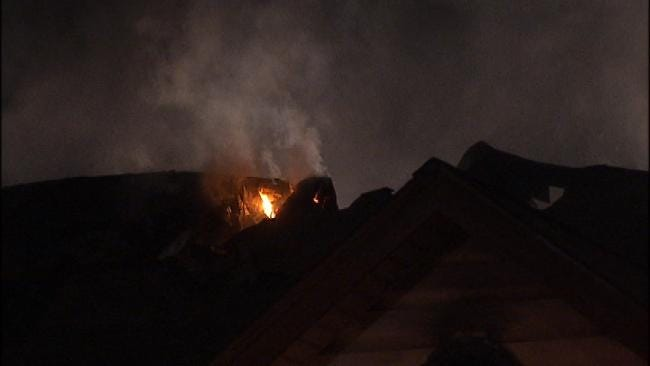 Lightning Strike Suspected Cause Of Tulsa House Fire