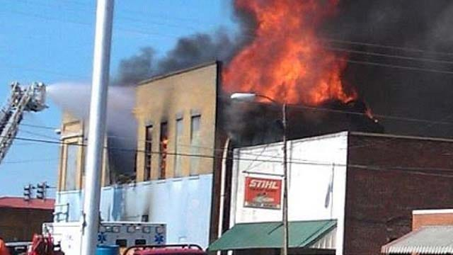 Stilwell Fire Destroys Antiques Store
