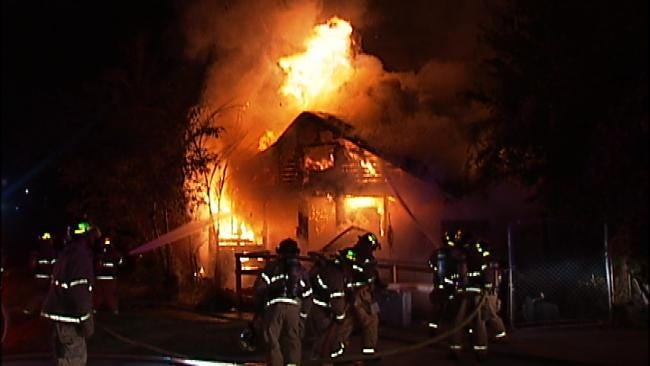 No One Injured When Tulsa Home Goes Up In Flames